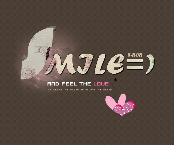 SMILE } and feel the love },أنيدرا